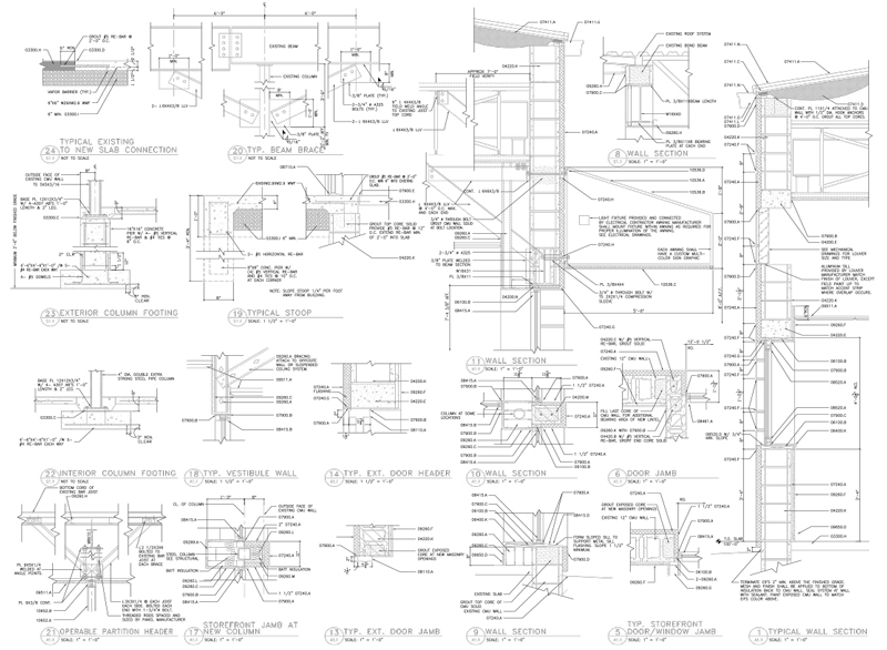 Sample revit autocad and microstation drawings q cad for Pdf a cad