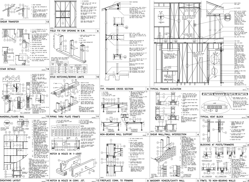 Autocad sample cad drawings q for Complete set of architectural drawings pdf